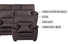 Living room furniture - Chairs, Love seats & Sofas