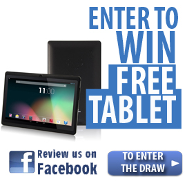 Review us on Facebook and enter to win free tablet