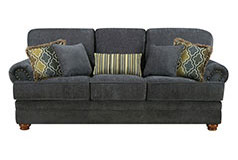 Colton Chenille Sofa in Dark Grey - Click for more details