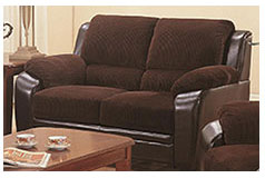 Monica Loveseat in Brown - Click for more details