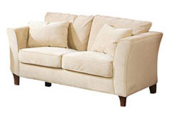 Park Place Loveseat in Cream - Click for more details