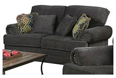 Colton Chenille Loveseat in Dark Grey - Click for more details