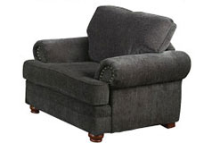 Colton Chenille Chair in Dark Grey - Click for more details