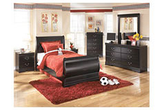 Huey Vineyard  Twin Bedroom Set in Black - Click for more details
