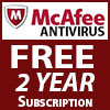*McAfee AntiVirus Plus - 2 Year Subscription