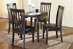 Hammis 5 Piece Dining Set in Dark Brown - Click for more details