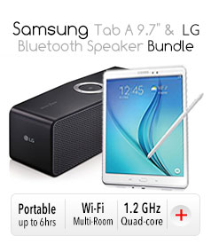 "*Samsung Tab A 9.7"" & LG Bluetooth Speaker Bundle"