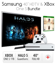"*Samsung 40"" HDTV & XBox One S Bundle"