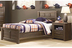 Juararo Twin Bedroom Set in Brown