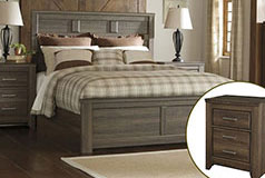 Juararo Queen Bedroom Set in Brown - Click for more details