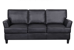 Cornas Bonded Leather SofaIn Black - Click for more details