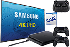 "Samsung 50"" UHD 4K Smart TV & PS4 Slim Bundle"