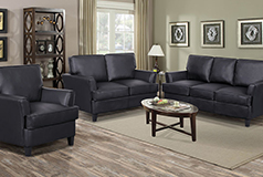 Cornas Black 3 Piece Living Room Set - S/L/C
