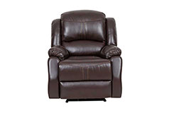 Lorraine Recliner Chair in Brown Bonded Leather - Click for more details