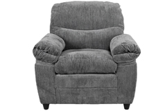 Alsace Chair in Grey Chenille   - Click for more details