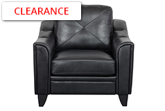 Valencia Chair  in Black Air Leather - Click for more details