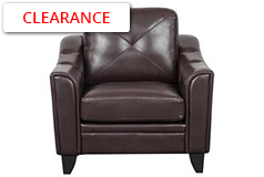 Valencia Chair  in Brown Air Leather - Click for more details