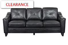Valencia Sofa in Black Air Leather - Click for more details