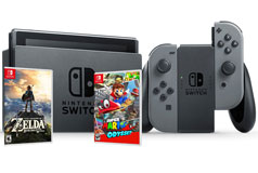 Nintendo Switch Bundle(Super Mario Odyssey/Zelda-Breath of the Wild/32GB) - Click for more details