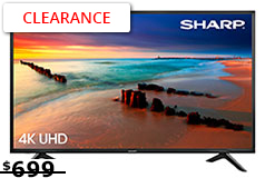 "Sharp 60""4K UHD Led Smart TV - Click for more details"