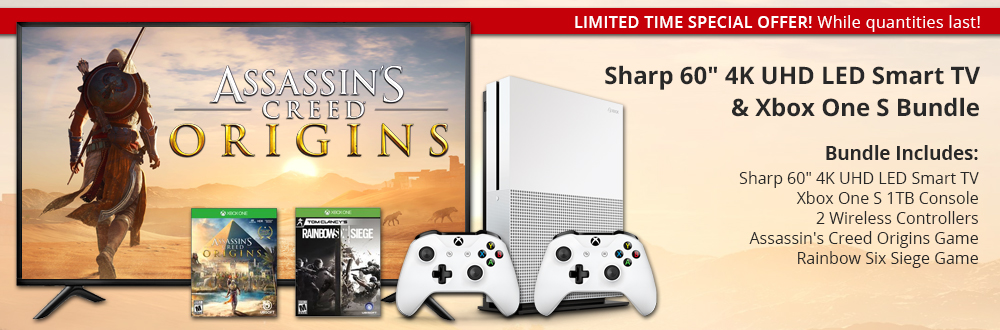 "Sharp 60"" 4K UHD LED Smart TV & Xbox One S Bundle"