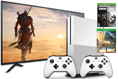 "Sharp 60"" 4K UHD Led Smart TV& Xbox One S Bundle - Click for more details"