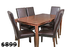 Mendoza 7 Piece Dining Setin Dark Brown - Click for more details