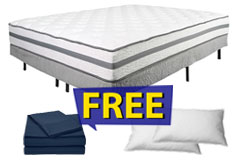 "11"" King Size Plush Alta Mattress Set FREE Navy Bed Sheets & 2 Pillows - Click for more details"
