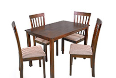 Harper 5 Piece Dining Setin Brown - Click for more details