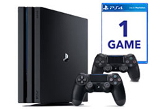 PlayStation 4 Pro Bundle(1TB/2 Controllers/Game) - Click for more details