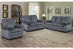 London 3pc Set  Sofa, Loveseat, Chairin Grey Chenille - Click for more details
