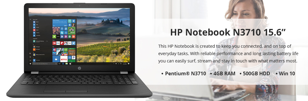 "HP Notebook 15.6"" N3710"