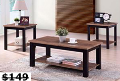 Verona 3 Piece table set Coffee table, 2 end tables - Click for more details