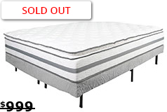 "Alta Pillow-top Plush 13"" Queen Mattress Set Mattress and Foundation - Click for more details"