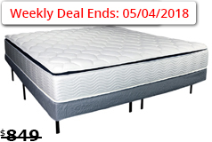 "Sleep Rest 11"" Cushion Firm Queen Mattress SetMattress and Foundation - Click for more details"