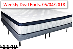 "Sleep Rest 13"" Comfort-Top Plush Queen Mattress Set Mattress and Foundation - Click for more details"
