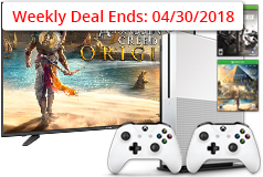 "Sharp 50"" 4K Smart TV& Xbox One S 1TB Assassin's Creed Bundle - Click for more details"