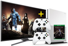 "Samsung 55"" UHD 4K Smart TV & Xbox One S 1TB Shadow of War  - Click for more details"