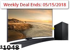 "Samsung 55"" Curved  4K UHD Smart TV & Samsung 2.1 Curved Soundbar Bundle - Click for more details"