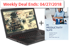 "Asus 15.6"" Gaming Laptop + FREE Corel PC Suite(Intel Core i7/8GB RAM/2TB HDD/GTX1050) - Click for more details"