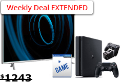 "Sharp 65"" Aquos 4K UHD LED TV& PlayStation 4 Slim 1TB Bundle - Click for more details"