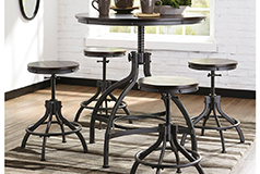 Odium Counter Height Dining Room  Table and Bar Stools (Set of 5) - Click for more details