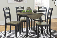 Froshburg 5 Piece Dining Setin Brown - Click for more details
