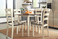 Woodanville 5 Piece Dinning SetIn Cream - Click for more details