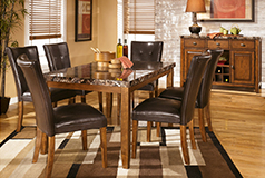 Lacey 7 Piece Dining Setin Medium Brown - Click for more details
