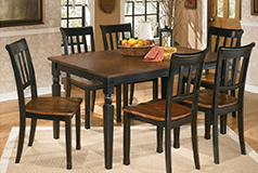Owingsville 7 Piece Dining Setin Black Brown - Click for more details