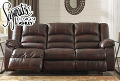 Levelland Reclining Sofa  in Genuine Leather <br />  by Ashley - Click for more details