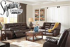 Ashley Levelland Reclining 3 Pc Set  Includes: Sofa Loveseat & Chair  in Genuine Leather by Ashley<br /> - Click for more details