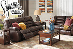 Levelland Recliner 2 Pc Set  Includes: Sofa & Loveseat  in Genuine Leather by Ashley<br /> - Click for more details
