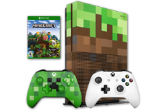 Xbox One S Minecraft Bundle (1TB/2 Controllers/Minecraft Game) - Click for more details